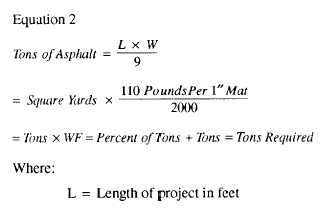 Table 8-6 -Weight and Volume Relations for Various Types of