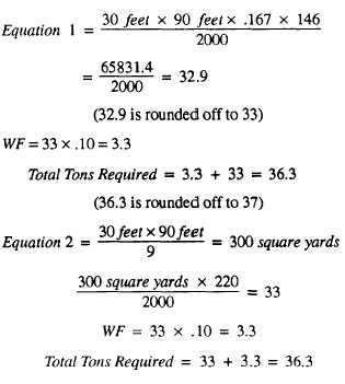 How to calculate quantity for asphalt in road. Youtube.