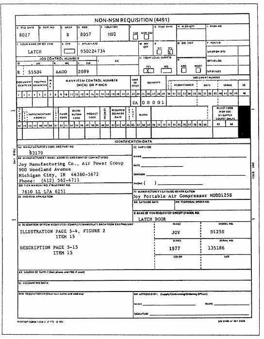 Navsup form 1250-1 pdf