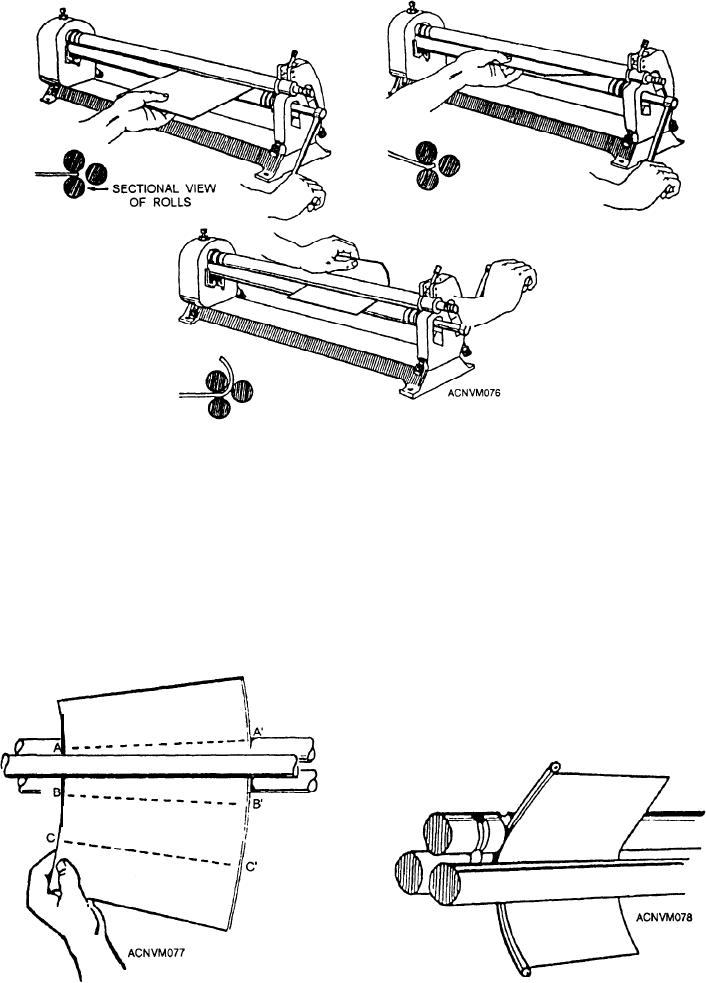 Figure 12 76 Forming A Cylinder On A Slip Roll Forming